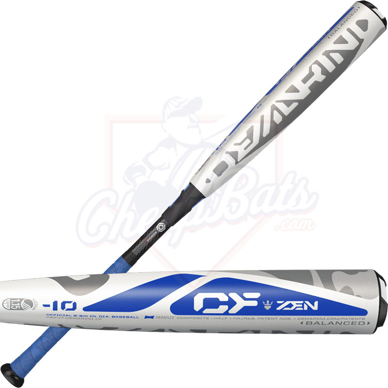 2017 DeMarini CF Zen Youth Big Barrel Baseball Bat 2 3/4 inches-10oz