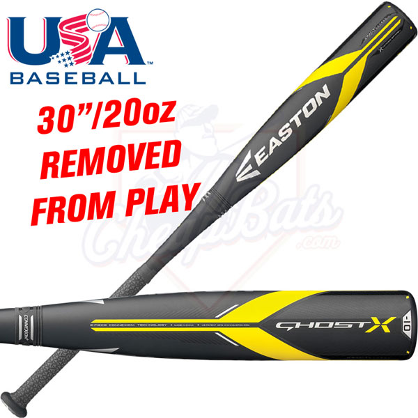 30 Inch 2018 Easton Ghost X USA Bat Banned