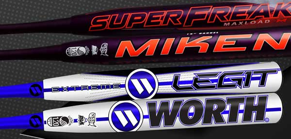 2018 Miken Worth Game Ready Slowpitch Softball Bats