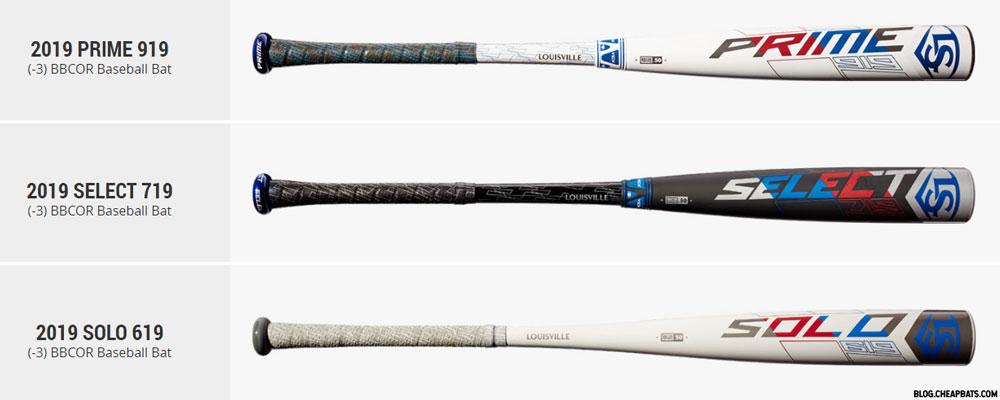 2019 Louisville Slugger BBCOR Bats Lineup